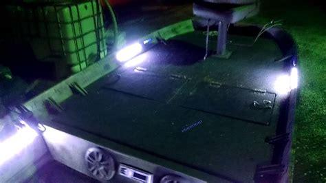 led lights on jon boat led lights strips in jon boat for catfishing youtube