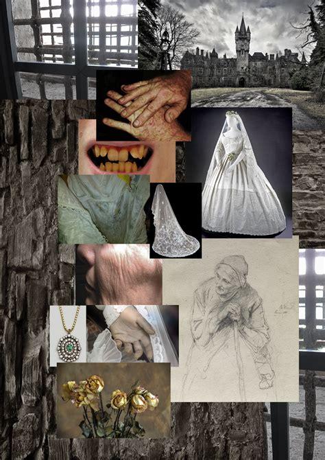 gothic themes in great expectations gothic horror miss havisham moodboard