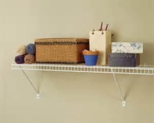 Closetmaid Utility Shelf Closetmaid 1031 3ft By 12in Wire Shelf Kit White