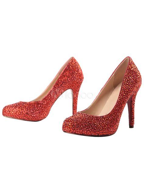 chic high heels chic sheepskin beading high heels milanoo