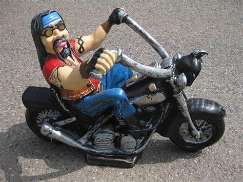 Harley Davidson Motorrad Neu by Biker Harley Davidson Gartenfigur Motorrad Fahrer