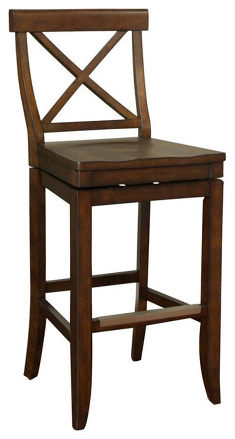 30 Inch Wood Bar Stools American Heritage Stetson 30 Inch Bar Stool In Wood