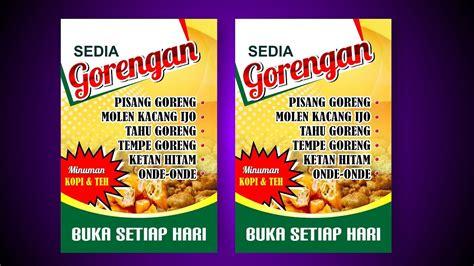 tutorial desain banner tutorial desain banner warung makanan youtube