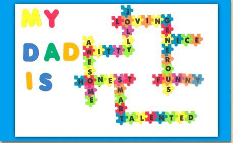 """my dad is"" crossword sign craft project ideas"