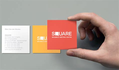 business card square card template 5 eye catching square business cards