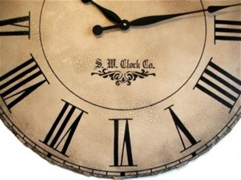 rustic crackle face oversize wall clock transitional extra large decorative wall clocks decor love