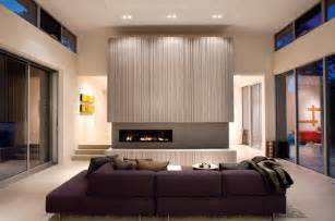 warm and modern fireplace modern living room san