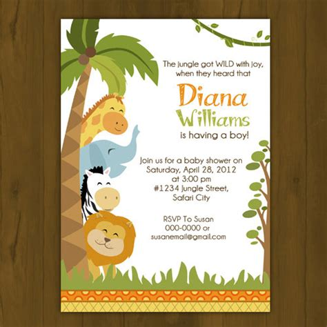 Safari Baby Shower Invitations by Safari Baby Shower Invitation On Storenvy
