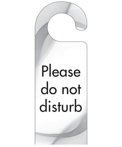 Do Not Disturb Door Hanger by Grey Swish Do Not Disturb Door Hanger