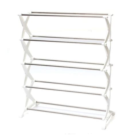 Stackable Shoe Racks For Closets by 5 Tier 12 Pair Stackable Shoe Rack Storage Organizer Space