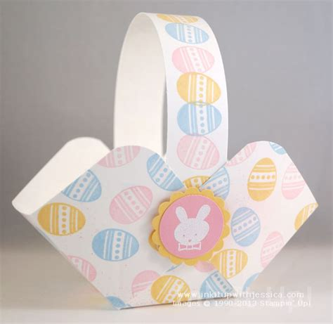 How To Make Paper Basket For - make easter baskets ink it up with card