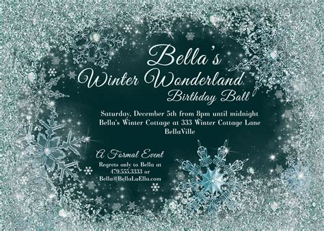winter invitation template winter winter snowflake invitation