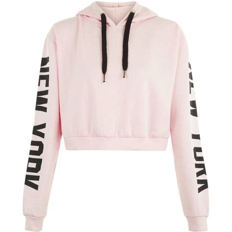 New York Cropped Hoodie White M sweaters crop tops