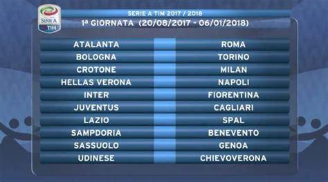 Calendario Serie A 2017 18 Diretta Calendario Serie A 2017 18 Tempo Reale Dalle 19
