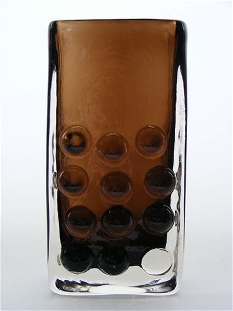 whitefriars glass glass pottery glass whitefriars cinnamon quot mobile phone quot glass vase pattern number 9670 designed by geoffrey baxter