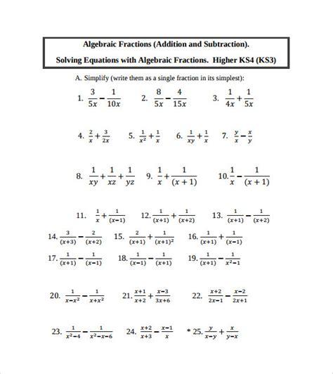 algebraic subtraction worksheets subtraction worksheets 187 basic subtraction worksheets with
