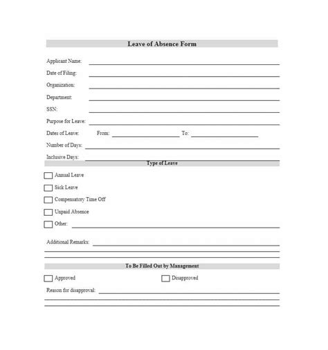 45 Free Leave Of Absence Letters And Forms Template Lab Leave Of Absence Template