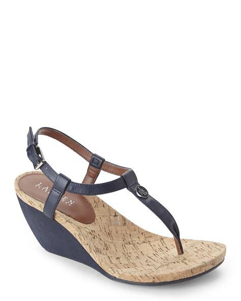 ralph wedge sandals ralph reeta wedge sandals in blue lyst