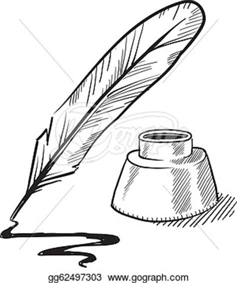 quill sketch book book and inkwell clipart clipart suggest
