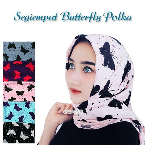 Terbaru Sinsan Segiempat Instant Butterfly 1 jilbab segi empat butterfly polkadot model terbaru bundaku net