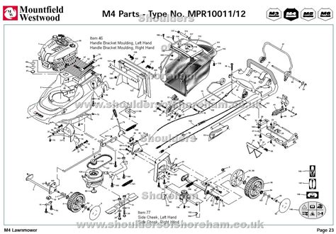 m4 parts diagram mpr10011 mpr10012 mountfield m4 pre 2002 machine diagram
