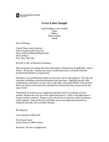 professional teaching cover letter with no experience