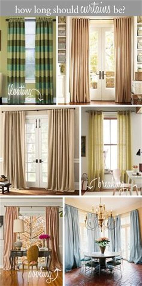 how long should curtains be bedroom curtains on pinterest