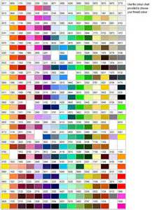 isacord color chart sewing selections variety store isacord rasant