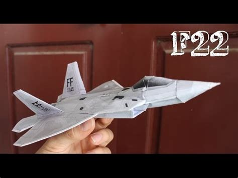 Origami F 22 Raptor - how to make an origami f 22 raptor paper plane