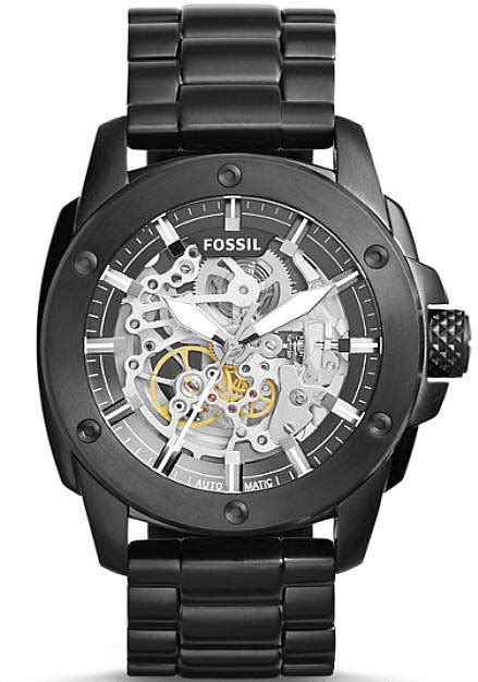 Fossil Me3080 By Fossil s fossil modern machine automatic black steel me3080