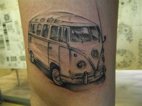 volkswagen bus tattoo realistic volkswagen van tattoo by tartu tatoo