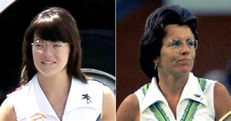 emma stone billie jean king emma stone morphs into billie jean king compare her to