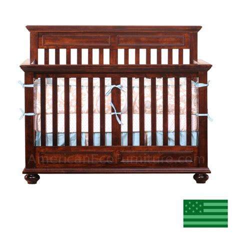 Solid Wood Convertible Cribs Mackenzie 4 In 1 Convertible Baby Crib Solid Wood Made In Usa American Eco Furniture
