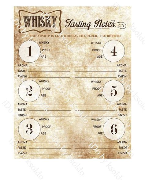 22 Images Of Cigar Tasting Notes Template Netpei Com Whisky Tasting Notes Template