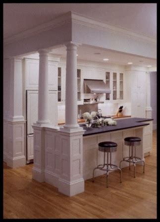 kitchen island with columns for the home