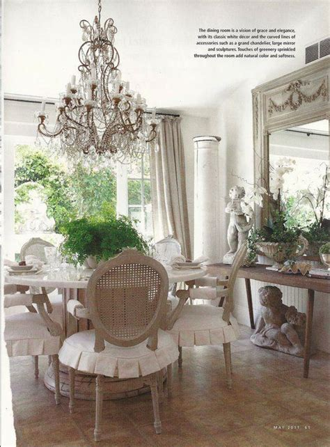 french country dining room     garden