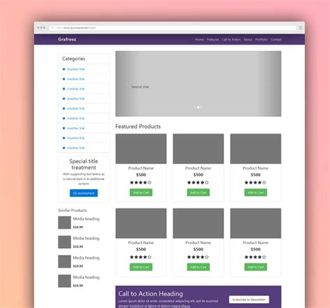 templates for ecommerce bootstrap ecommerce starter template bootstrap grafreez