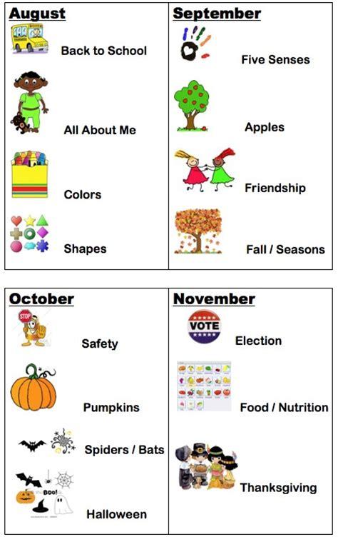 monthly themes of study mrs hackett s kindergarten