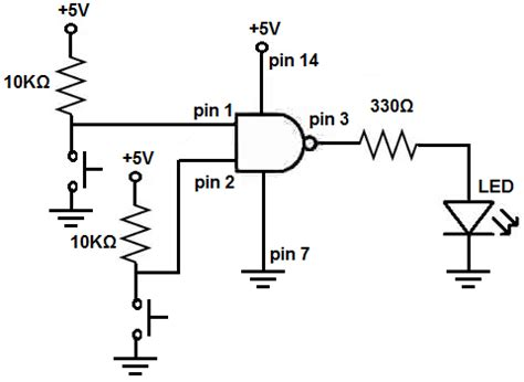 resistor logic circuits how to connect a pull up resistor