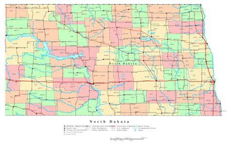 map usa dakota large detailed administrative map of dakota state