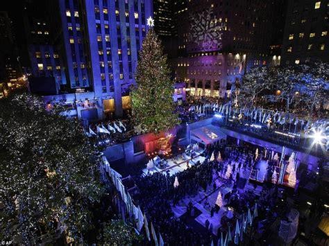 Kerst In New York 2013 Tree Lighting Rockefeller Center 2013