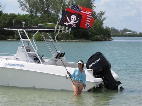 boat t top flag pole fishing rod holder flag poles gifts for boaters the