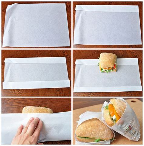 How To Fold Parchment Paper - how to fold parchment paper into a sandwich bag for a
