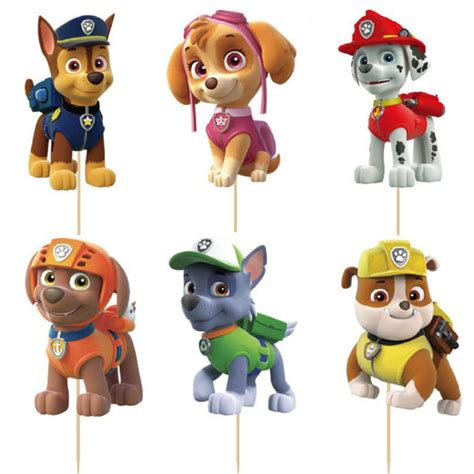 Cake Topper Paw Patrol New cake topper figurine figure decoration birthday characters