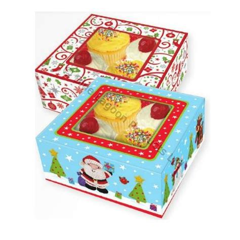 pack of 4 christmas food gift boxes festive party seasonal