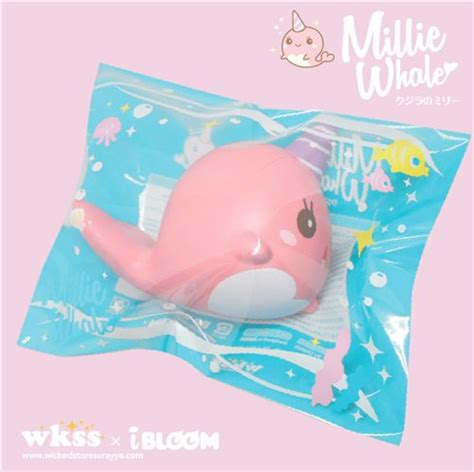 Squishy Ibloom Foxy kawaii pink narwhal whale animal scented squishy by ibloom
