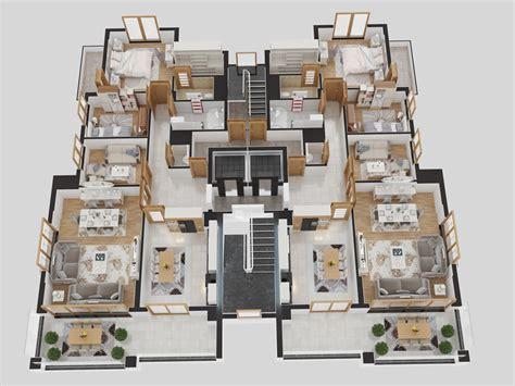 Floor Plan 3d premiumpark trabzon kat planlar