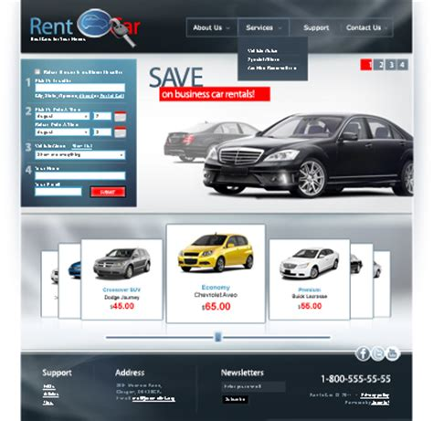 car html template best website templates of september review