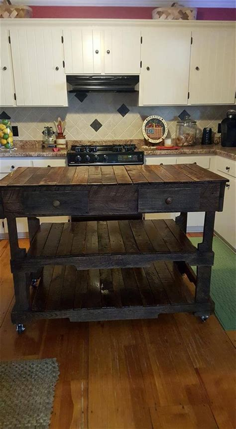 pallet kitchen island pallets made kitchen island 101 pallet ideas