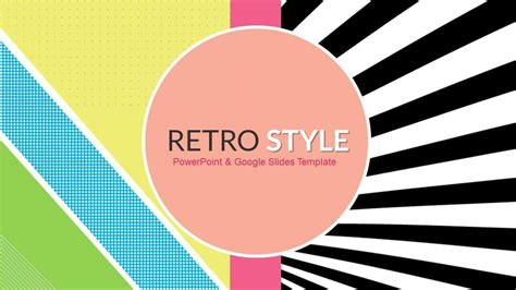 themed powerpoint templates free retro style funky free powerpoint templates